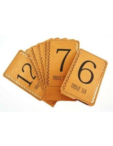 12 NUMERO TABLE KRAFT
