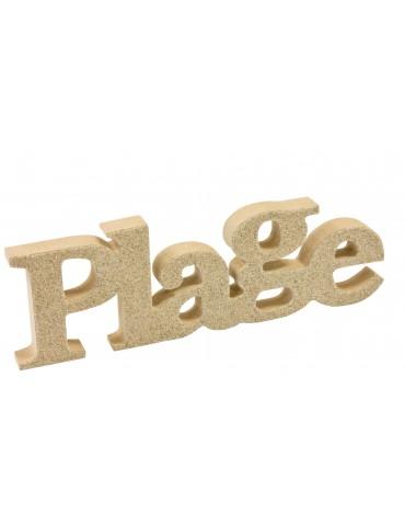 """LETTRE BOIS """"PLAGE"""" SABLE"""